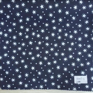 Star And Eye Dark Navy Printed Lining