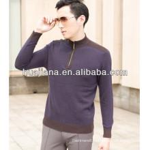 Кашемир 12ГГ мужской джемпер свитер половину zip