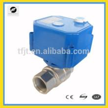 DC24V mini válvula elétrica de 2 vias com função de substituição manual