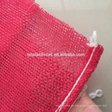 bolsa de malla de plástico de alto rendimiento y económica para cebolla con cordón