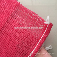 high-performance and inexpensive plastic mesh bag for onion with drawstring