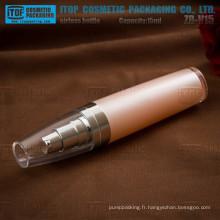 ZB-V15 15ml mini et mignonne hot-vente fort pompe à flacon de plastique cristal airless