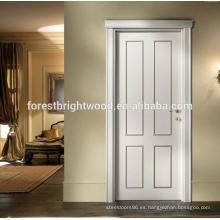 Diseño interior decorativo blanco de la puerta del trazador de líneas del artesano de la puerta del diseño moderno