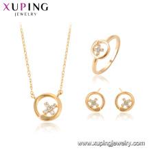 64689 xuping 18k позолоченный мода Китай оптовая продажа крест ожерелье