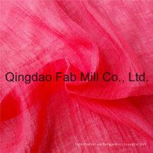 Rojo 100% tela de rami tela de crepé (QF16-2526)