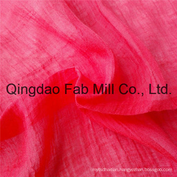 Red 100%Ramie Fabric Crepe Fabric (QF16-2526)