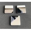 Espejo de tocador de metal con base de mármol