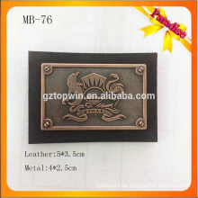 LB76 Custom Metall Logo Jeans Etikett Mit Schraube Metall Leder Etikett Patch