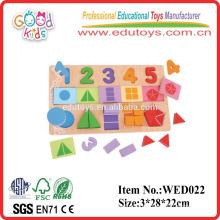 2015 puzzle de fractions éducatives avec puzzle CE en bois