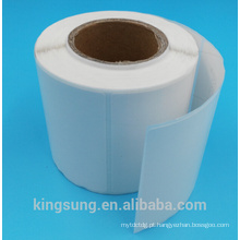 venda quente semi gloss papel auto-adesivo com letra no papel de volta