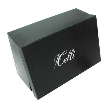 High End Kartong Packaging Black Shoe Presentförpackning