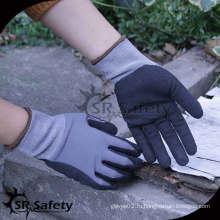 SRSAFETY 15 guage nylon spandex нитриловая пенная перчатка дышащая, песчаная отделка
