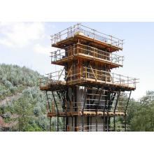 Système de coffrage grimpant en acier pour la construction en béton