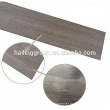 Seco pisos de tablones de vinilo de grano de madera