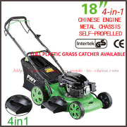GS/CE/EMC Approved Good Quality Plastic Grass Bag Cover Luxurious 4-in-1 Petrol Grass Mower (XYM168-2J)