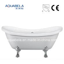 CE / Cupc aprobó la bañera de acrílico pura acabada de Clawfoot de acrílico (JL643)