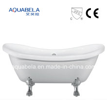 CE / Cupc Aprovado Pure Acrílico Double Ended Clawfoot Bathtub (JL643)