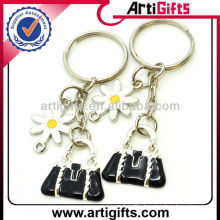 Factory supply metal bag double ring keychain