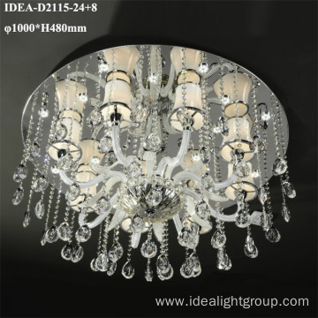 european chandelier led lamp crystal ceiling candle light