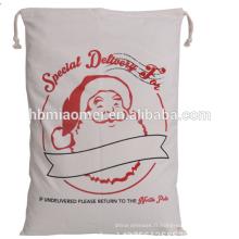 2017 nouveau sac de sapin de Noël jetable de cordon de coton