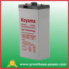 Batterie stationnaire de gel de 200ah 2V pour le système d'énergie solaire