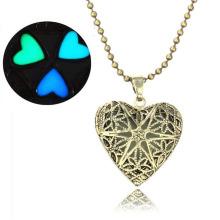 Günstige Mädchen Halskette 2016 Charm Aushöhlen Design Herz Anhänger Halskette