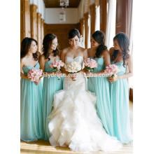 Sweetheart Chffion bodenlangen nach Maß formale lange Brautjungfer Kleid für Hochzeitsfest CY033 himmelblaue Brautjungfer Kleider