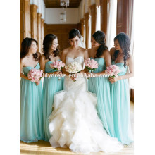Sweetheart Chffion Floor Length Custom made Formal Long Bridesmaid Dress For Wedding Party CY033 sky blue bridesmaid dresses