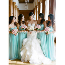 Sweetheart Chffion Andar Comprimento feito sob medida formal vestido de dama de honra longo para festa de casamento CY033 vestido de dama de honra azul céu