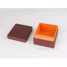 Caja de regalo de papel de alta calidad para productos de cuero de embalaje