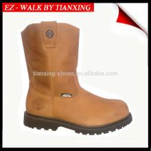 Botas ocidentais com botas de aço inoxidável Leather Wellington