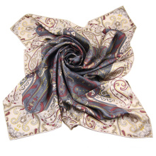 China Factory Ladies Custom Design Digital Print Silk Scarf