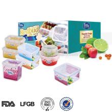 L Microwavable прозрачная пластиковая упаковка коробки