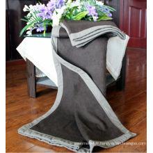 Couvertures plaines tricotées en laine 100% yak / couvertures de cachemire / couvertures de cachemire de yak
