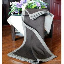 100% Yak Wool Knitted Plain Blankets/Yak Cashmere Blackets/Cashmere Blankets