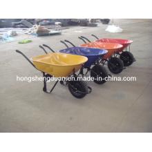 Proveedor de China de la carretilla de rueda de alta calidad con la rueda de aire