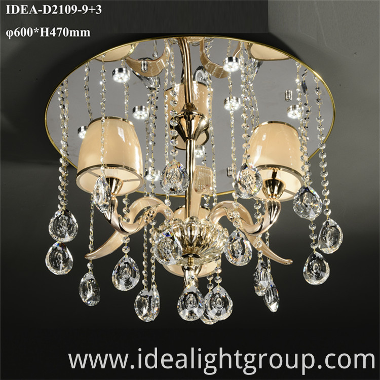 crystal wedding lighting