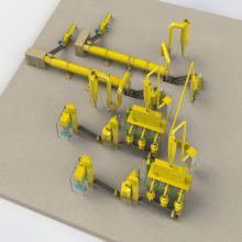 Línea de máquinas de pellets de alfalfa Producción de pellets de madera