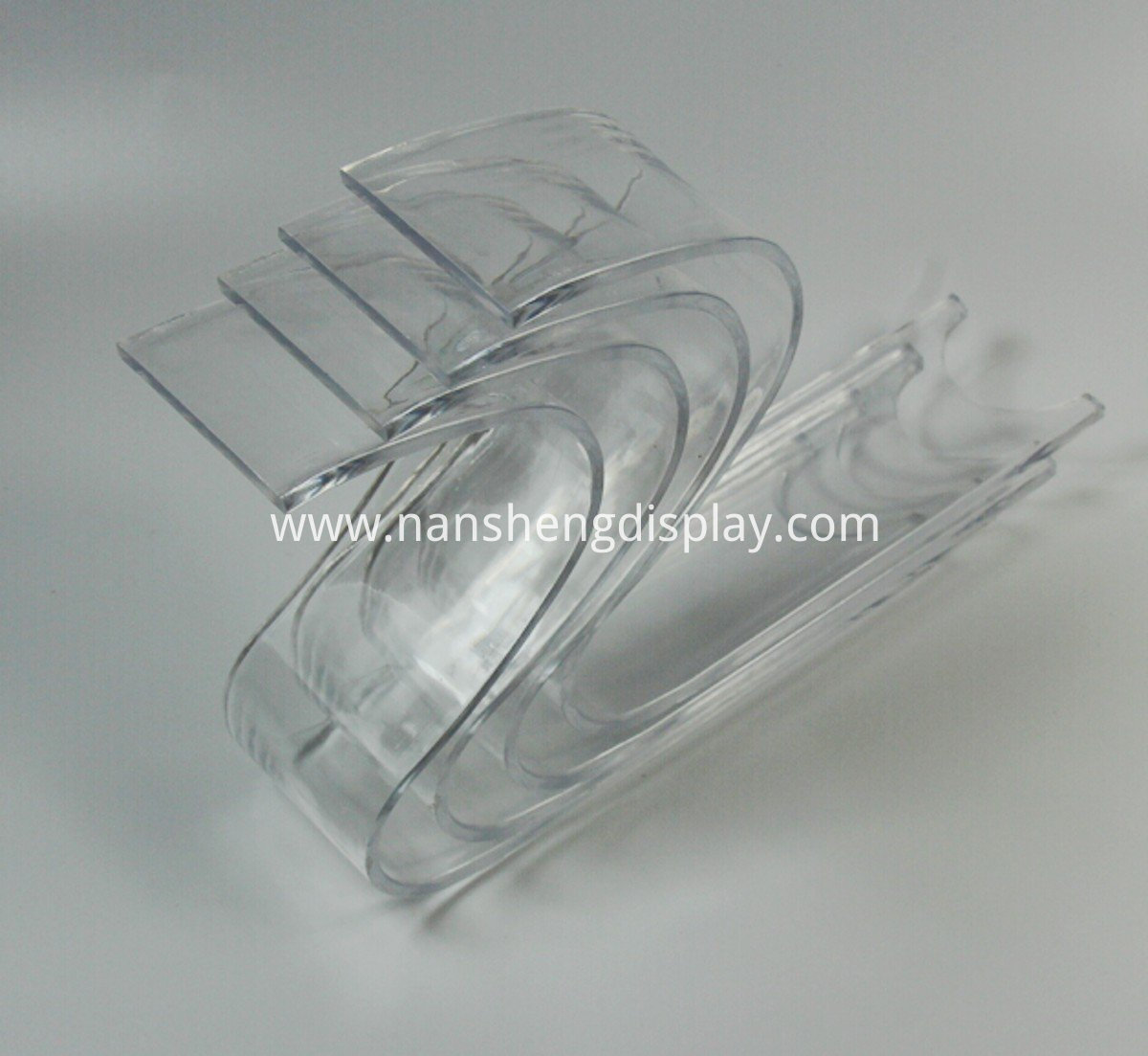 clear acrylic shoe display