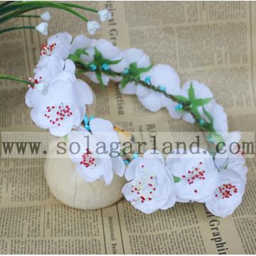 Snow White Flower Garland Wreath Christmas Party Headdress Headband Garland Hair Flower