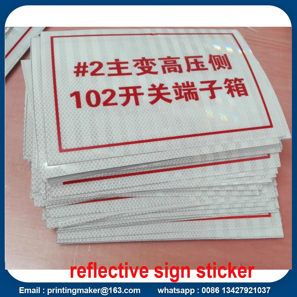 reflective vinyl sticker printing