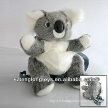 Factory Wholesale Sac à dos en peluche en forme d'animal de compagnie Koala Backpack