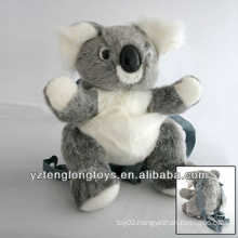 Factory Wholesale Animal Shaped Plush Backpack Koala Backpack