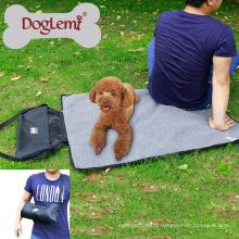En gros de haute qualité en plein air Portable Roll dans la couverture de chien de voyage avec sac