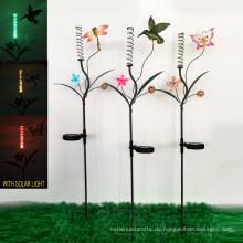 Solarleuchte Gartendekoration Metallstange