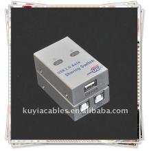 Interruptor de compartimiento USB de 2 puertos / 2 puertos USB 2.0 Compartición automática Impresora Escáner Interruptor