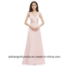 Long Evening Dresses Elegant Sexy V Neck Formal Dresses