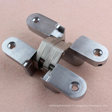 Charnières de porte d'armoire réglables en zinc pour roulement de 30 kg