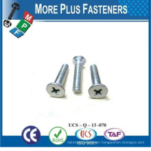 Made in Taiwan Hex Socket Button Head Machine Screw Hex Socket Button Head Machine Screw Flat CSK Head Cross Recess Machine Scre