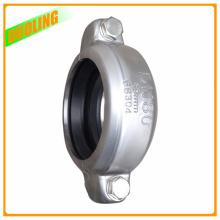 3 pulgadas de acero inoxidable caucho flexible medio acoplamiento de conexión de la abrazadera de la pinza de sujeción